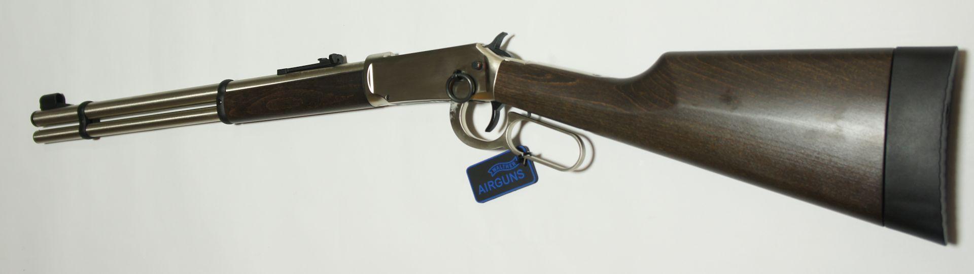 CO2 Winchester, Walther Lever Action, steel finish von der Seite