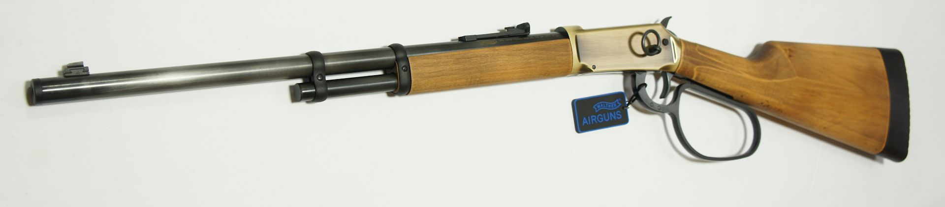 CO2 Winchester, Walther Lever Action Duke,  / Das Visier entspricht dem historischen Vorbild und ist in der Höhe verstellbar.
