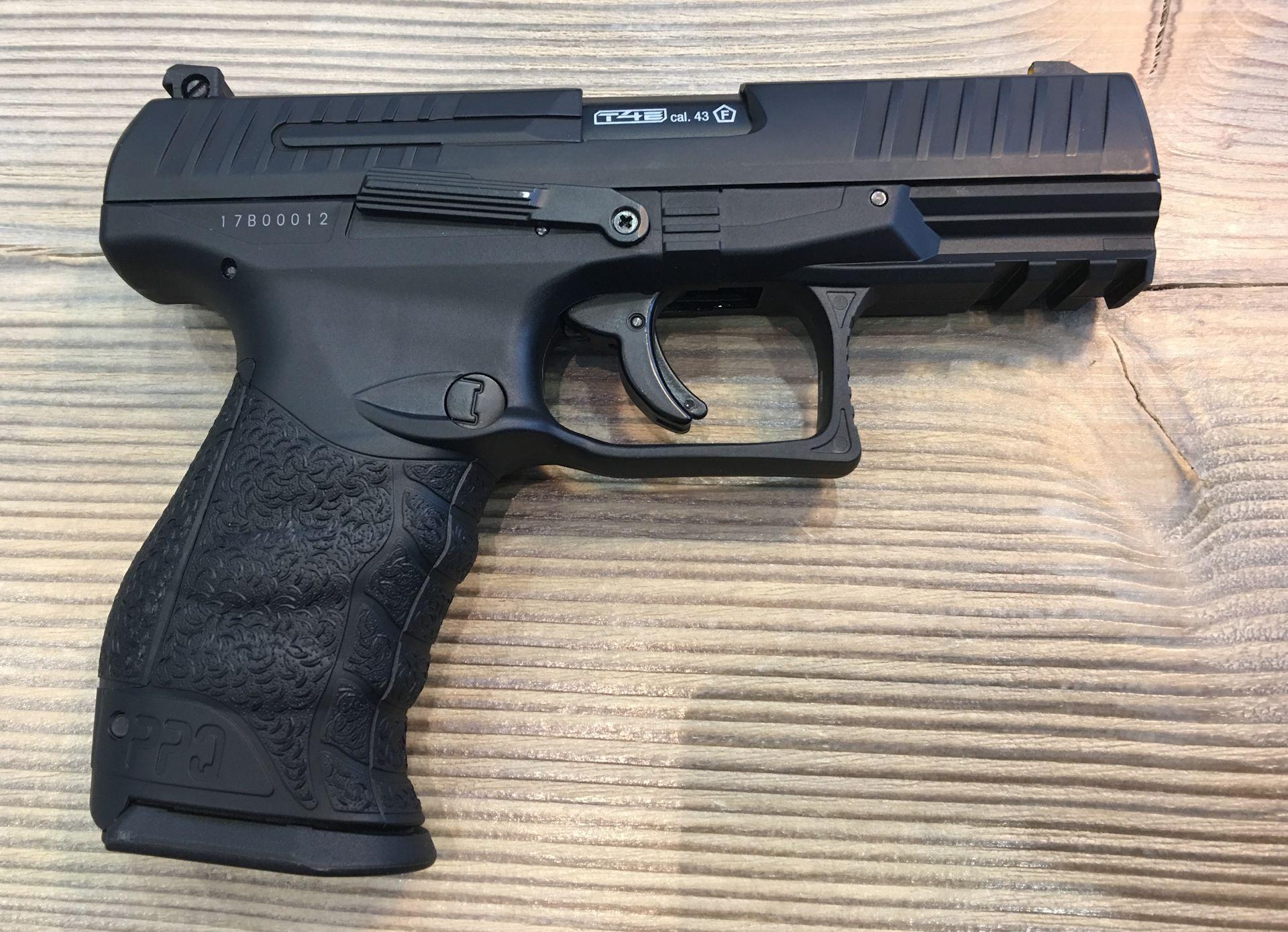 Walther PPQ M2 T4E, Kaliber .43 / 11 mm  für Gummigeschosse oder Farbkugeln