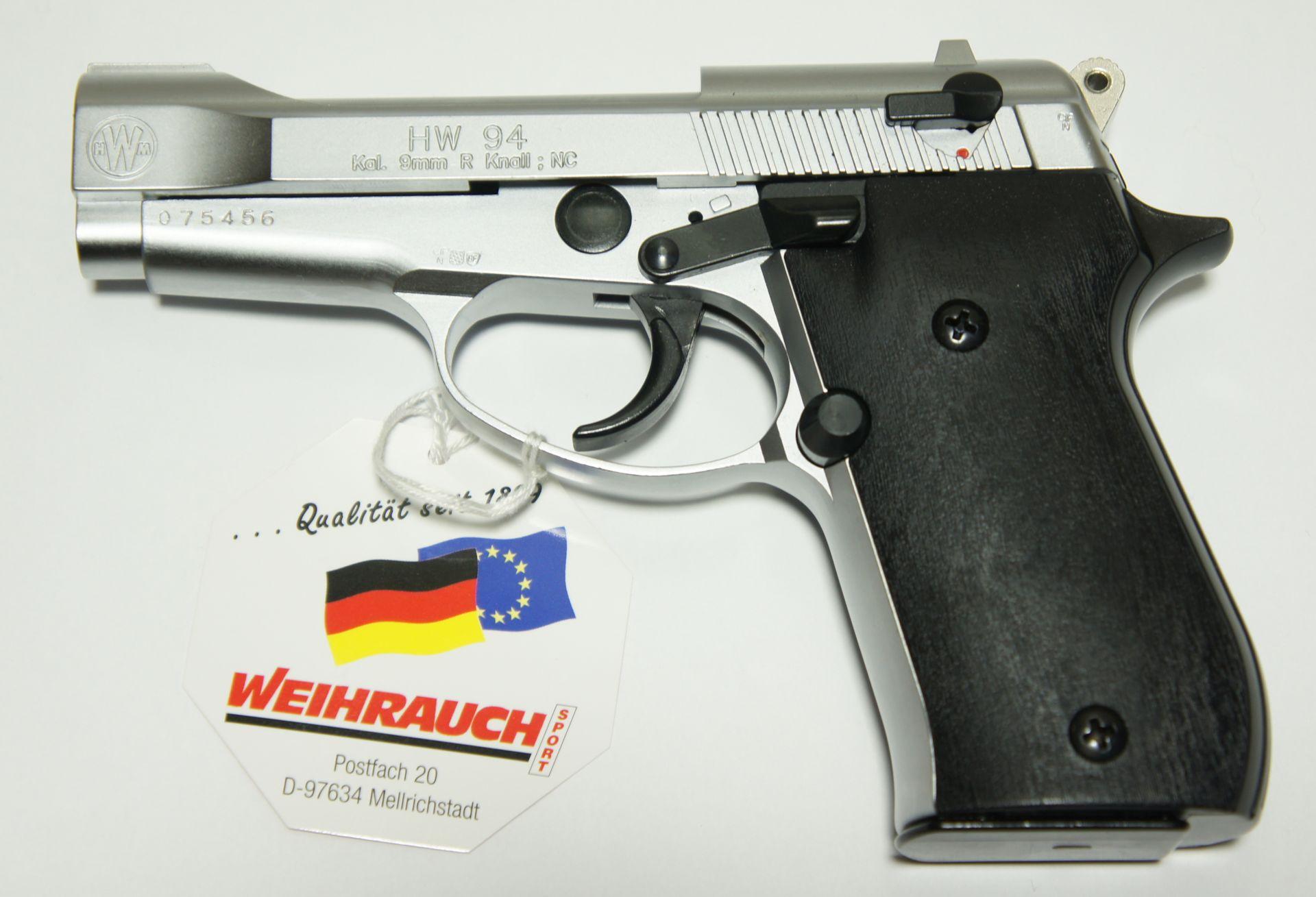 Gas und Signal Pistole HW 94 stainless Look