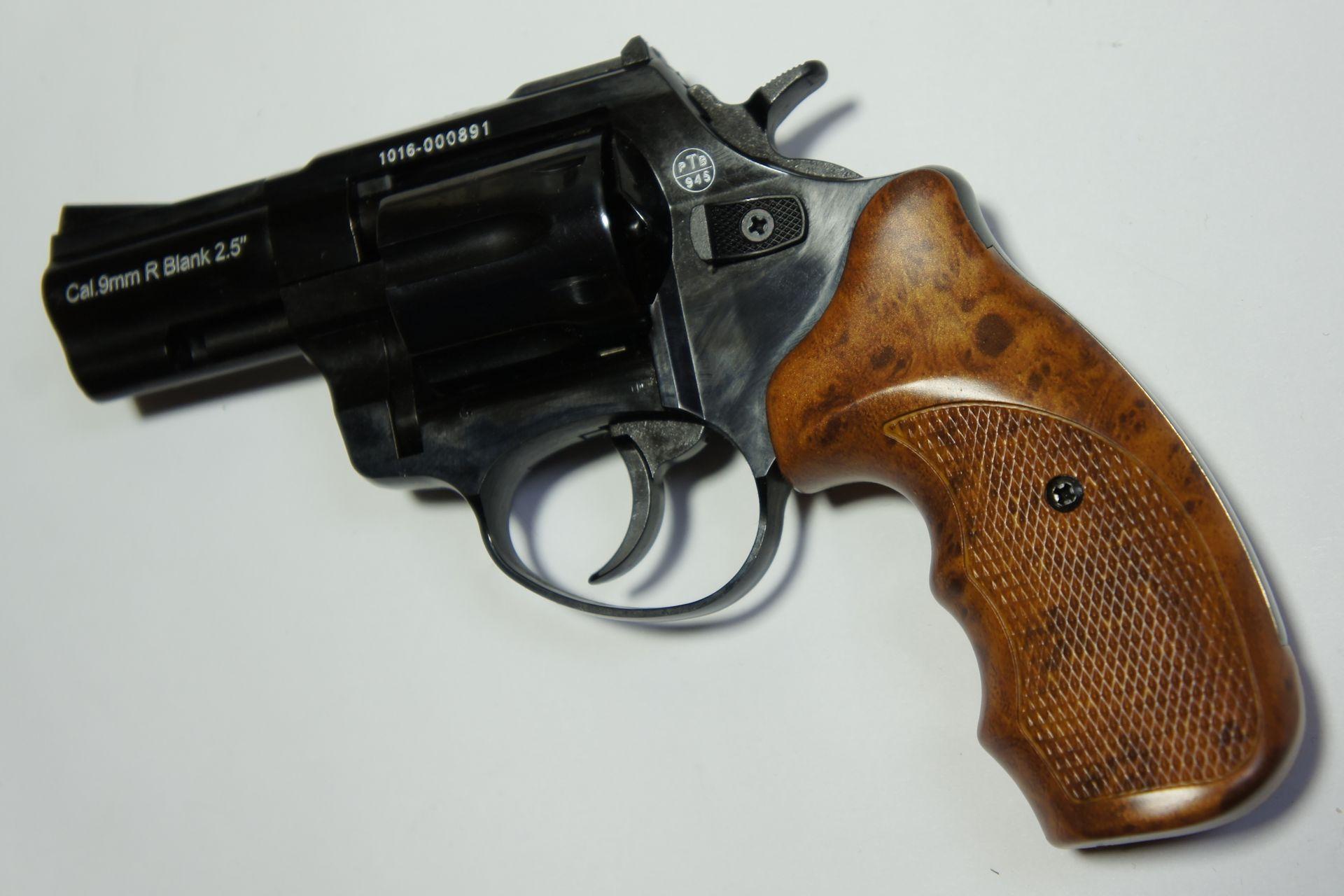 Zoraki R1 Shiny Gas und Signal Revolver mit schönem Griff in hölzerner Optik