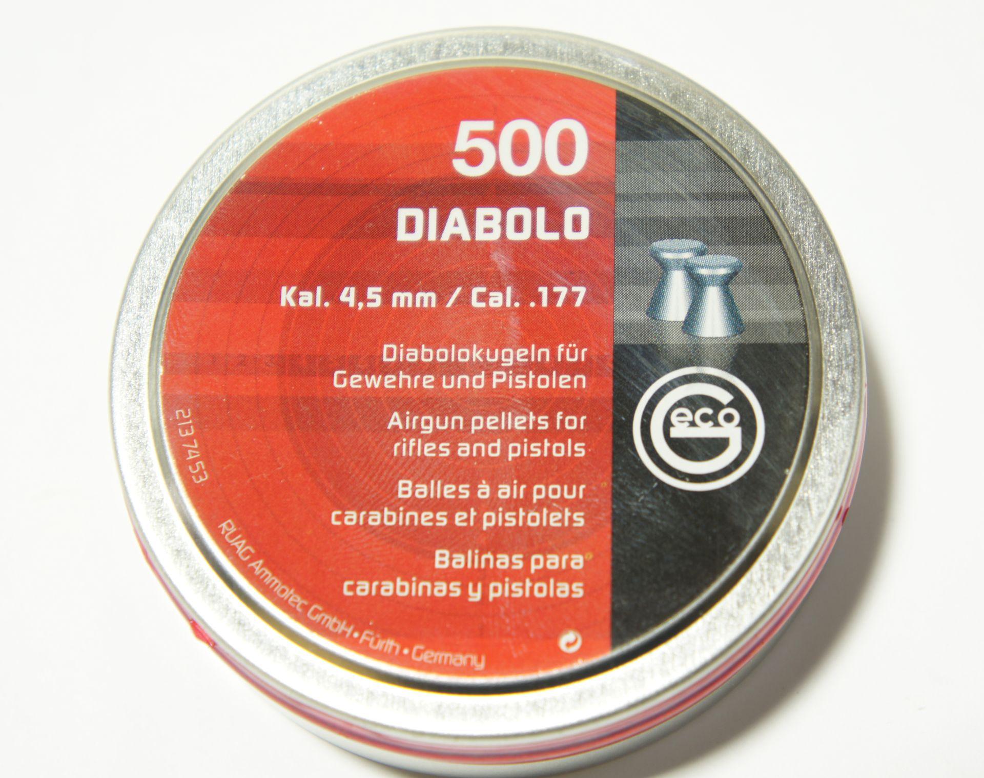 Hier gelangen Sie  <a href=1172014.htm> zu empfehlenswerten Diabolo Geschossen (ca. 500) 4,5mm </a>