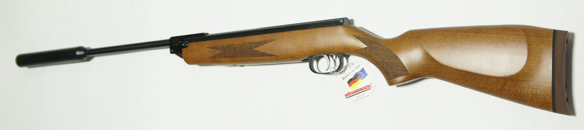 Luftgewehr HW 30 s mit Schalldämpfer und Luxusschaft