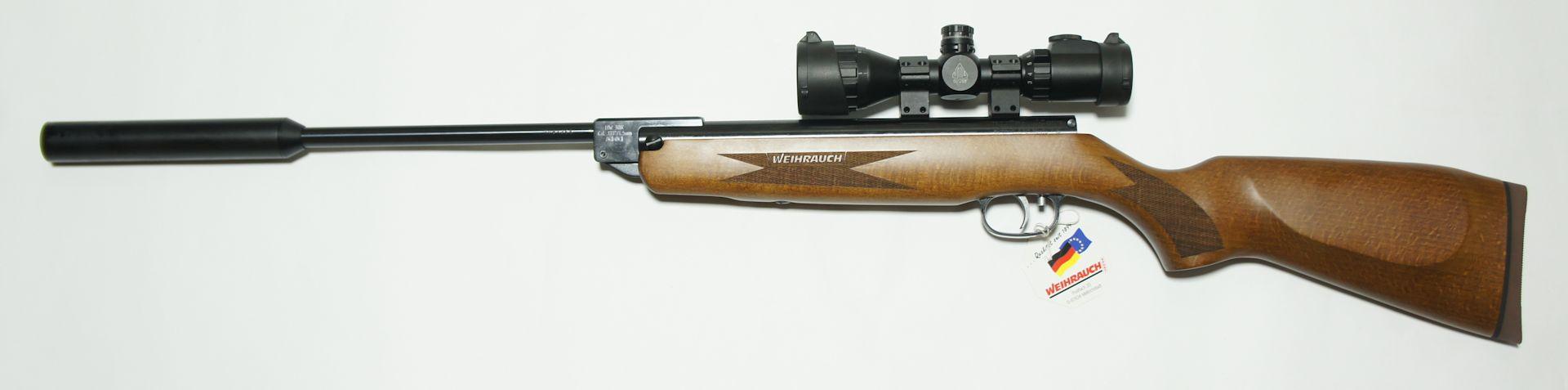 """Luftgewehr HW 30 K (S) Luxus mit Schalldämpfer Zielfernrohr """"UTG Compact 3-9x32"""""""