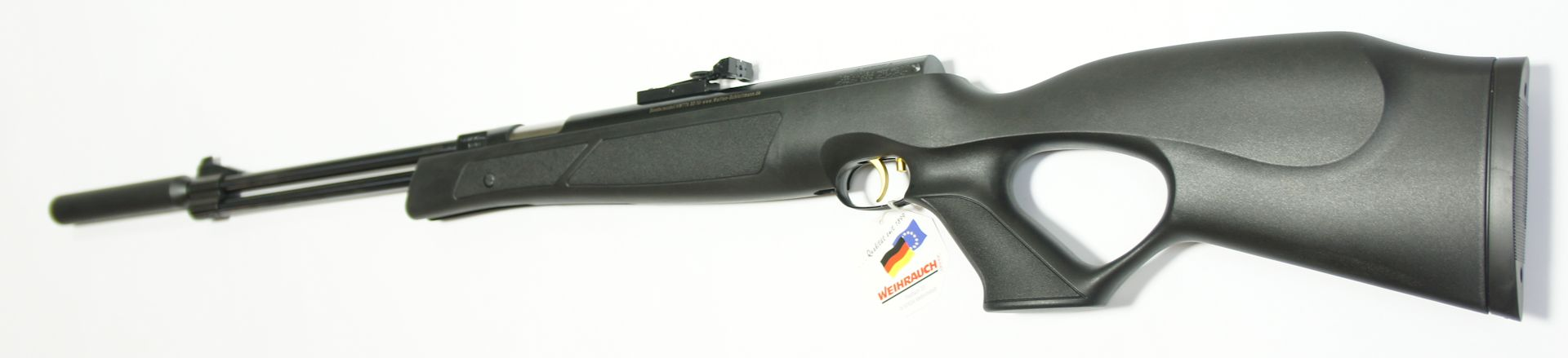 Luftgewehr HW 77 black line  mit Zielfernrohr, Laufgewinde und Schalldämpfer