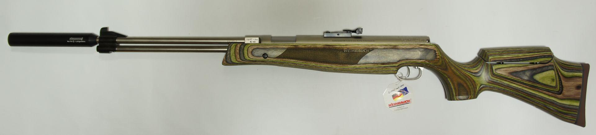 Gerne könnten Sie gegen Aufpreis so ein Luftgewehr auch mit vernickeltem Schalldämpfer und / oder mit verstellbarem Schaft bekommen.