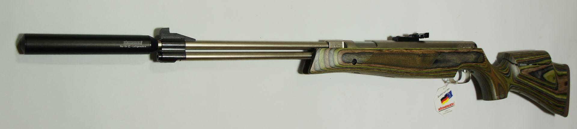 Luftgewehr HW 77 mit verstellbarer Schaftbacke und Zielfernrohr