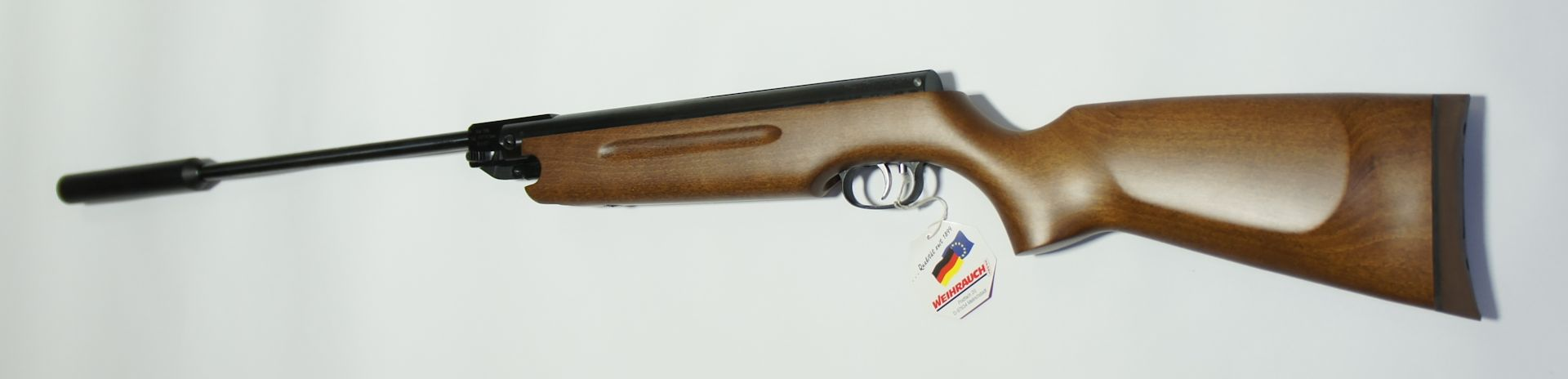 HW 35 mit Schalldämpfer Kaliber 4,5mm F