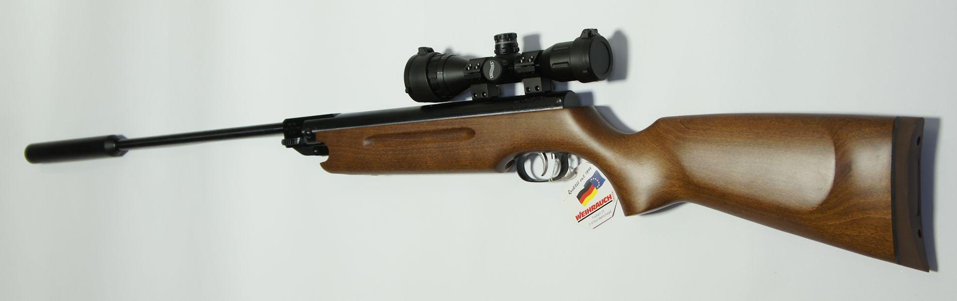 Montagebeispiel mit unserer meistverkauften, optimalen und <a href=1130130.htm> unverwüstlichen Optik Walther 4x32 MDC</a>
