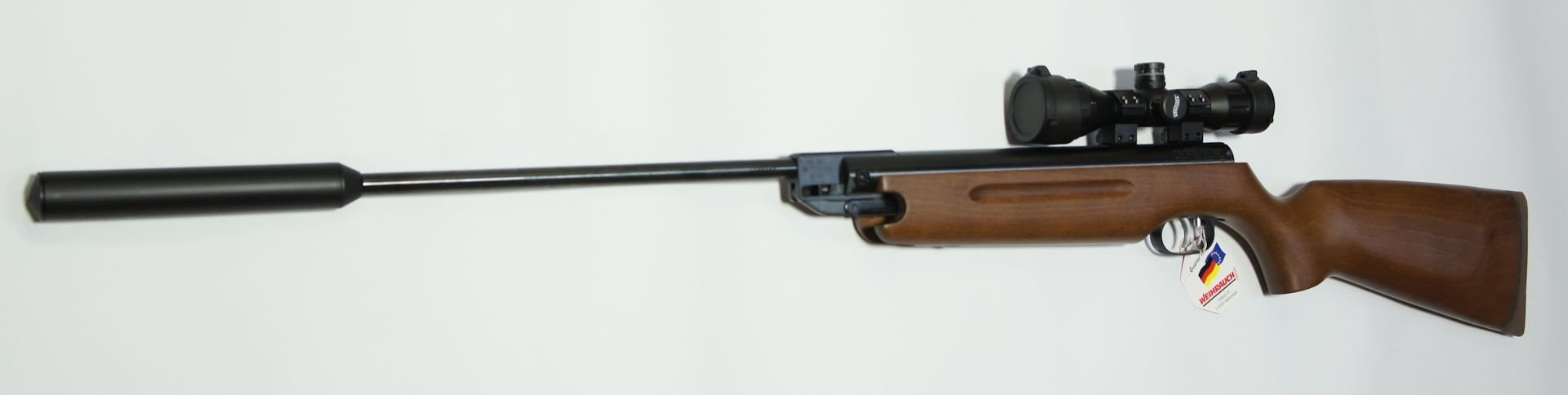 HW35 Luftgewehr mit Schalldämpfer und Zielfernrohr