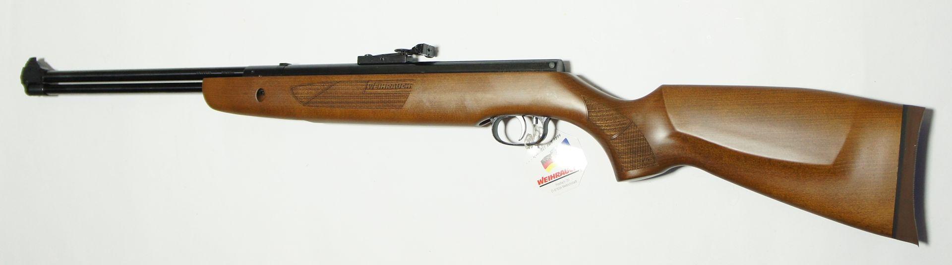 Luftgewehr HW 57 mit schöner Fischhaut und Weihrauch-Schriftzug im Holz, Weihrauch Kaliber 4,5mm