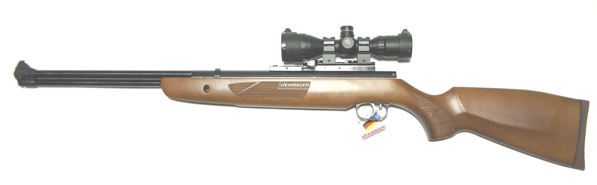 Montagebeispiel am <a href=1160407-45.htm>Luftgewehr HW 57</a>. Wegen einer speziellen Montageschine kann die Kimme drauf bleiben.