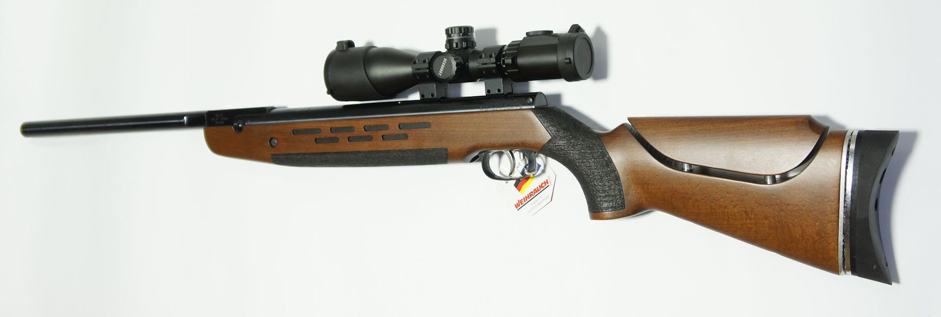 Montagebeispiel der Optik auf einem <a href=116420.htm>Luftgewehr HW 98</a>