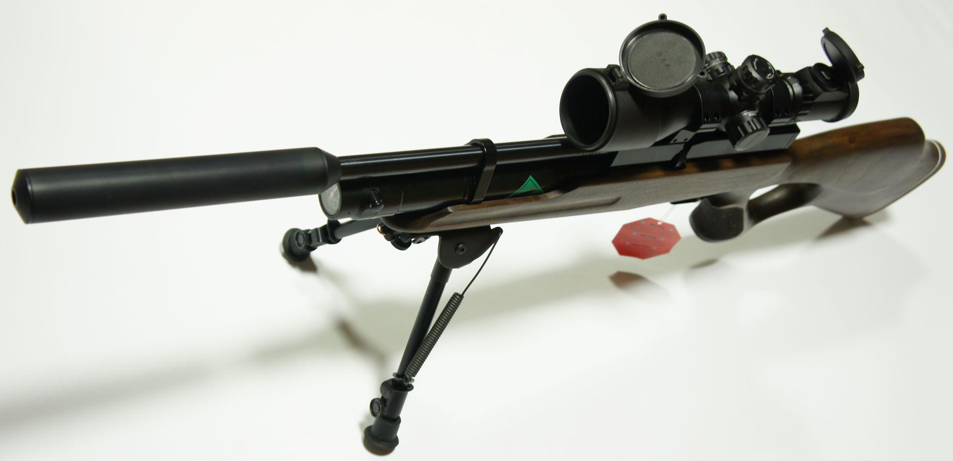 Das Harris- Zweibein ist von sehr guter Qualität und kann mit wenigen Handgriffen vom Luftgewehr abgenommen oder angesetzt werden.