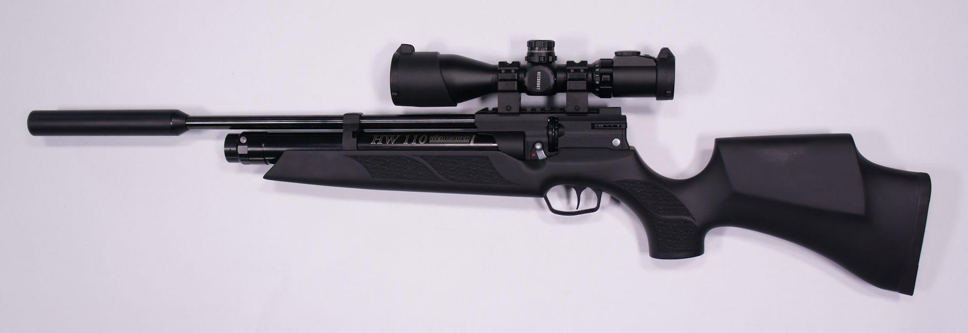Weihrauch HW 110 ST mit Schalldämpfer und Zielfernrohr UTG 3-12x44