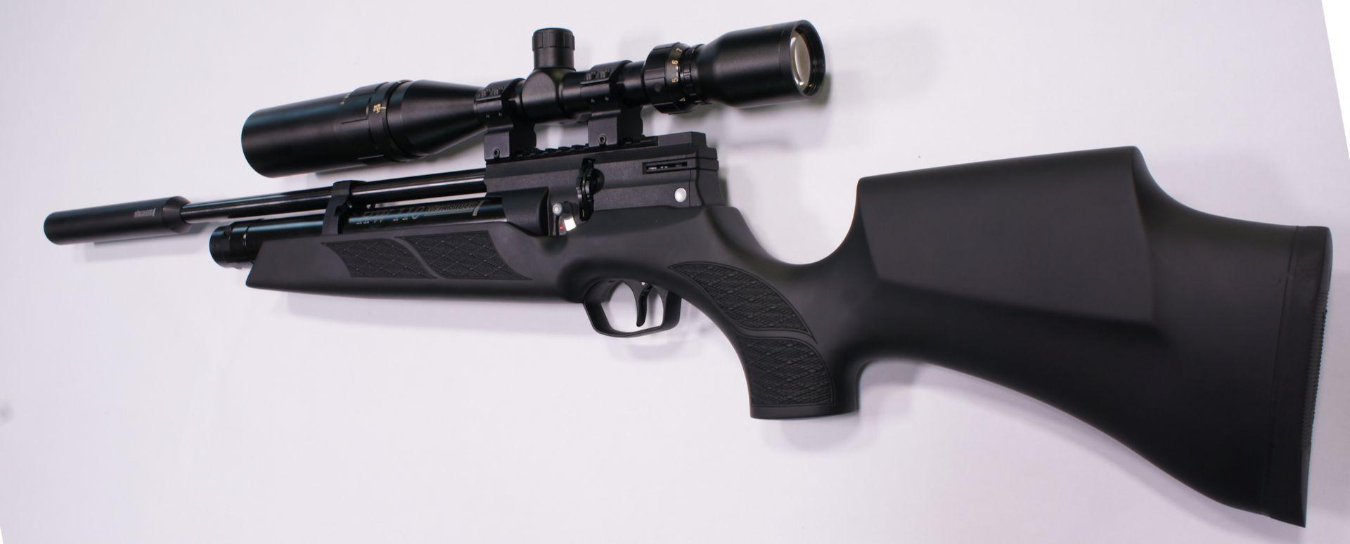 Montagebeispiel: erwerbsscheinpflichtiges Luftgewehr Weihrauch HW 110 ST mit Optik Weihrauch 3-9x44