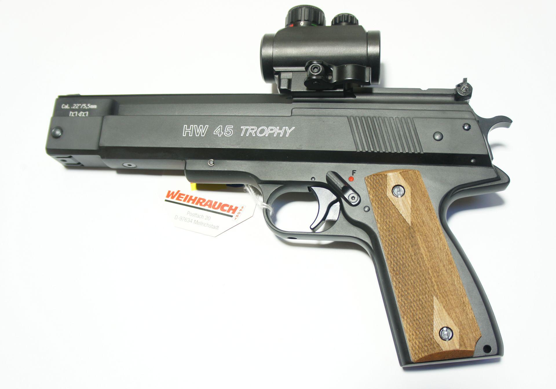 HW 45 Trophy RTU, Kaliber 5,5mm mit Leuchtpunktvisier