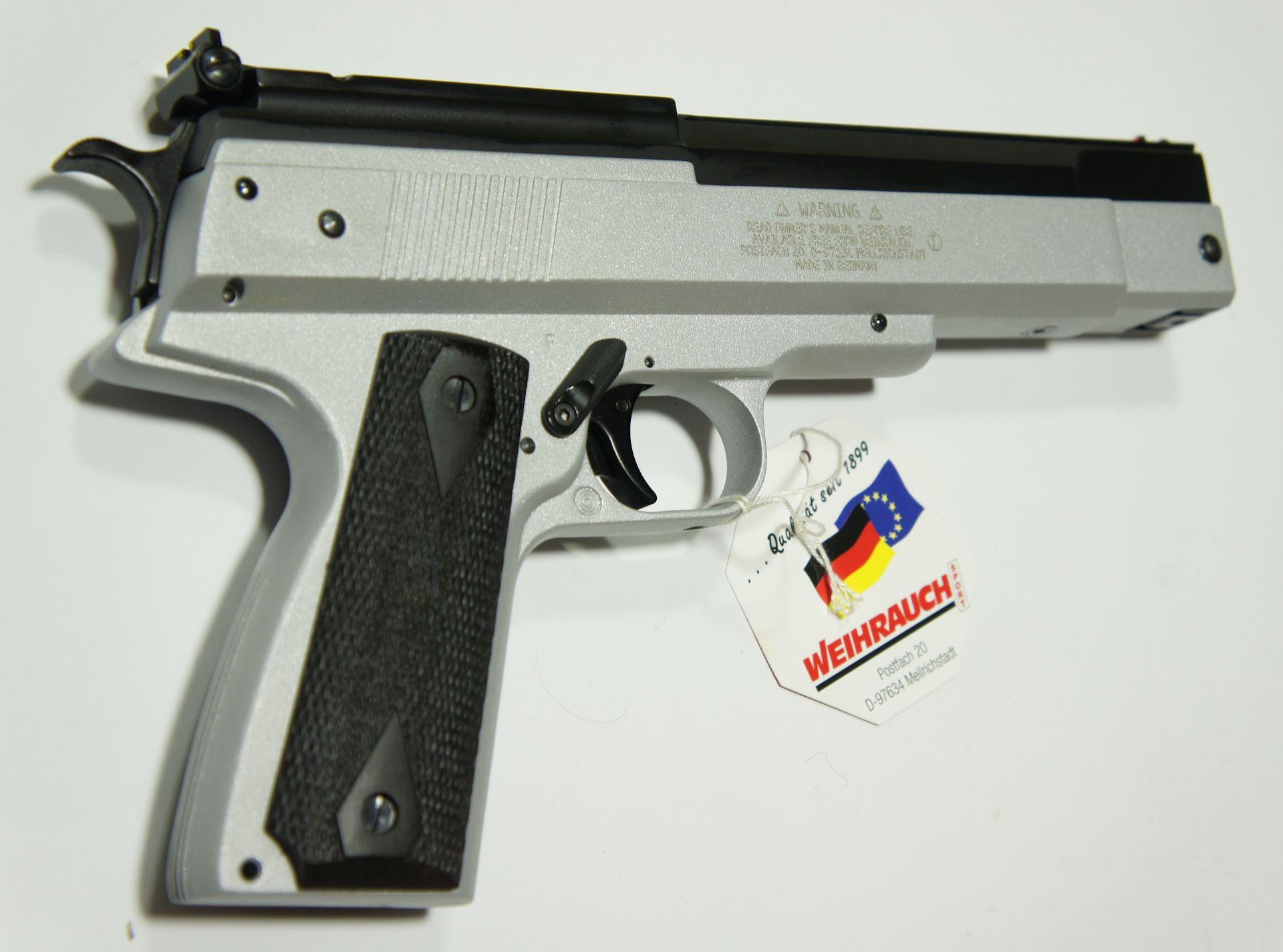 Luftpistole HW 45 Kaliber 4,5mm, Silberfinis