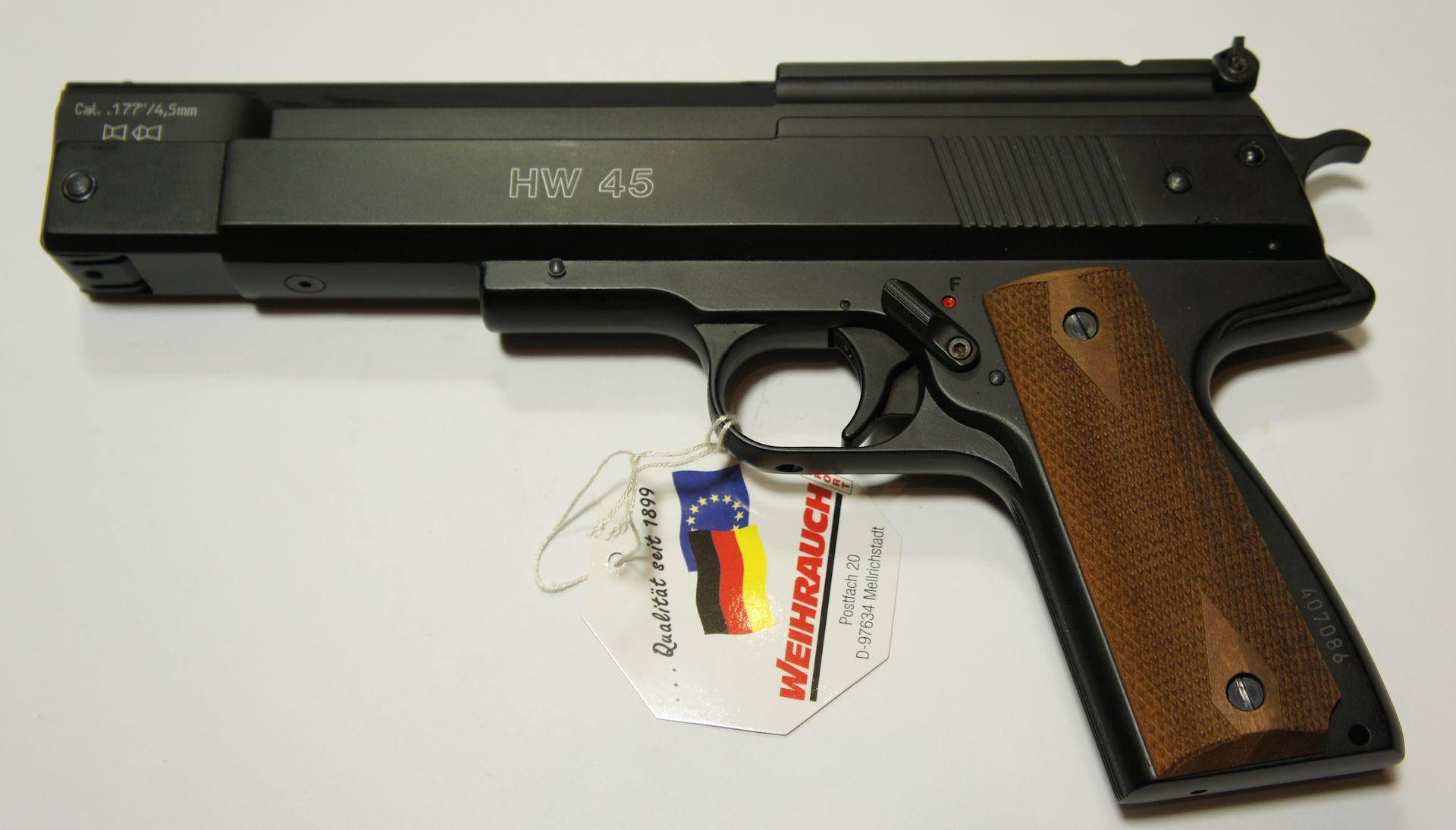 Luftpistole HW 45 Kaliber 4,5mm, schwarz