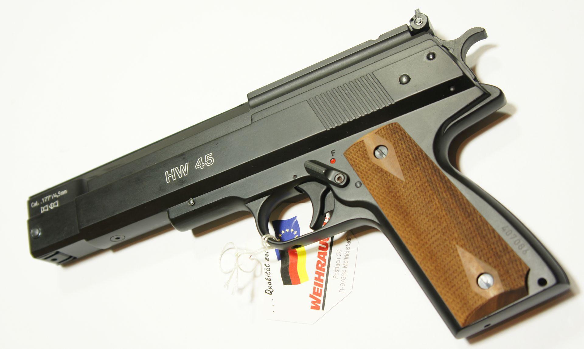 Die Luftpistole HW 45 gehört zu den stärksten Luftpistolen auf dem Markt.