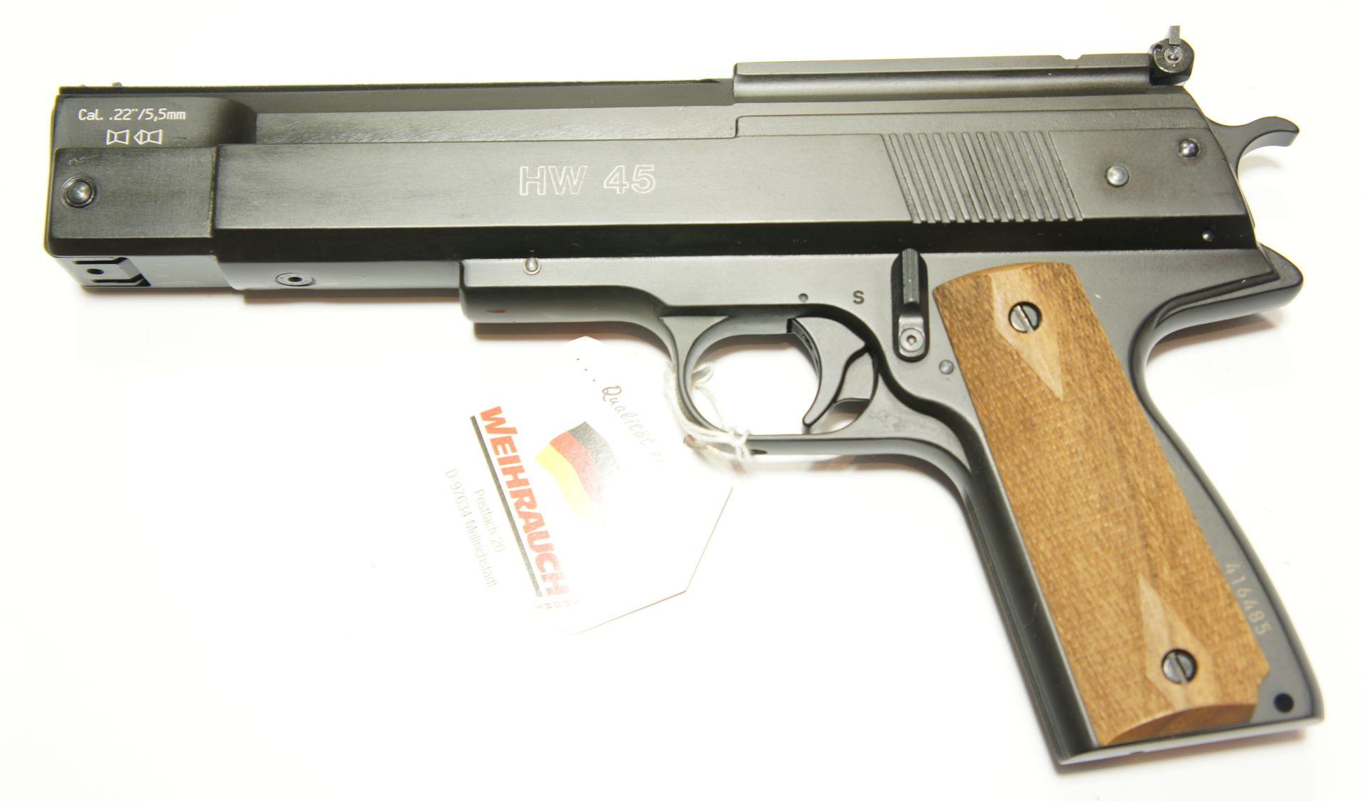 Luftpistole HW 45 Kaliber 5,5mm, schwarz