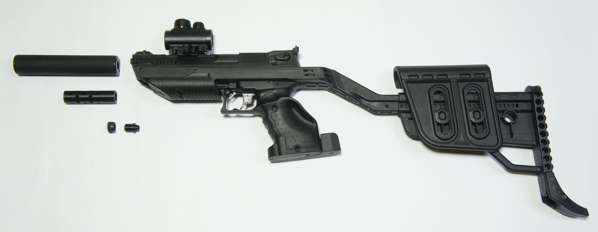 Die Teile sind als Zubehör für die Luftpistole Zoraki erhältlich.