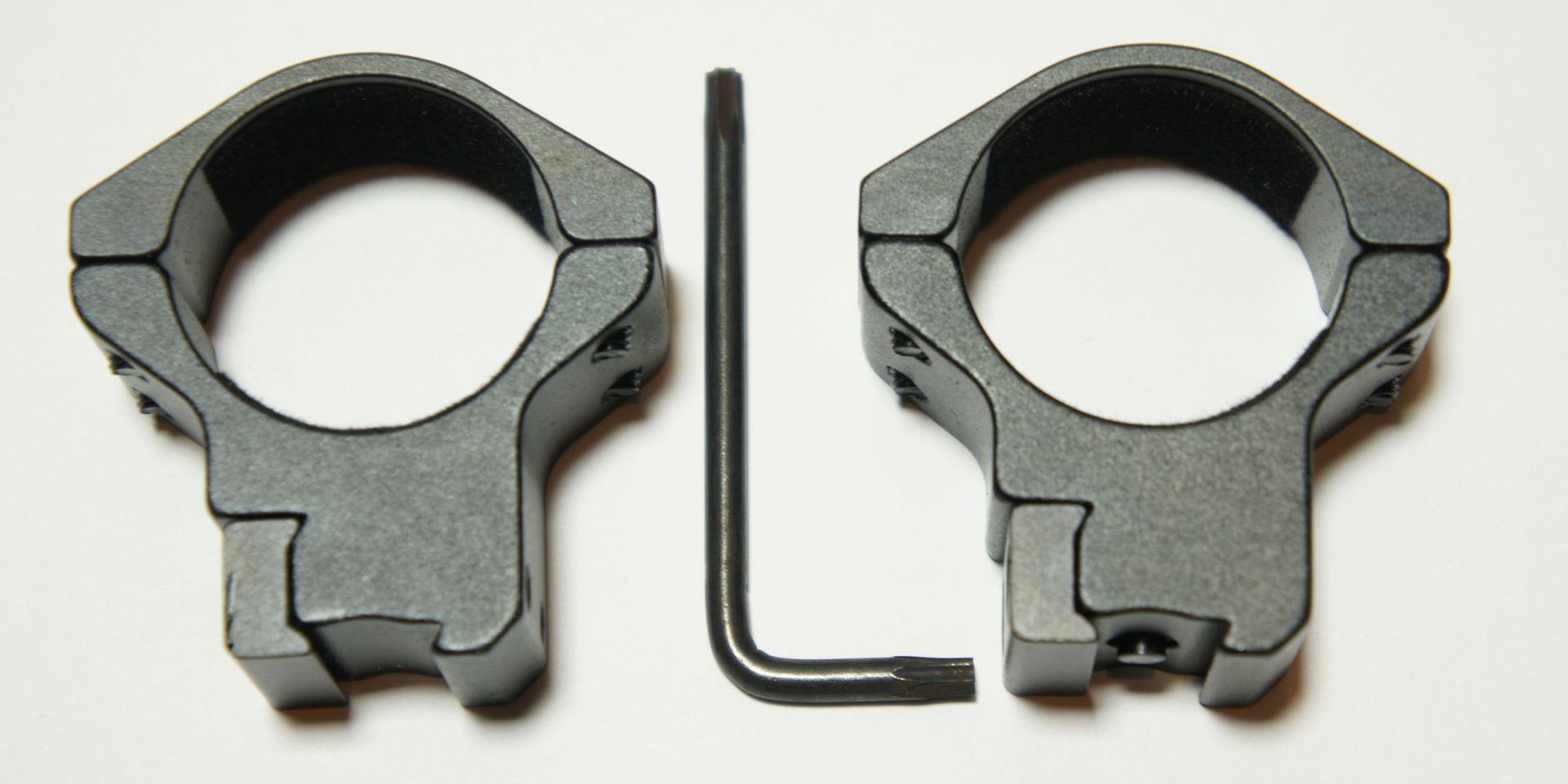 30mm Montageringe mit Stift für 11mm Schiene, H15