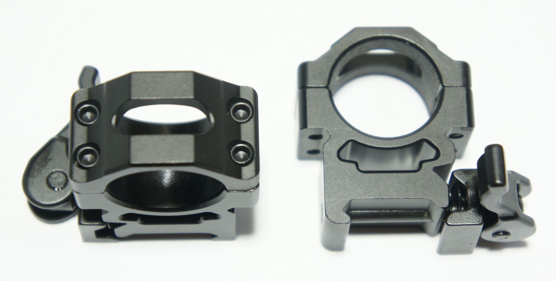 Montageringe 1 Zoll = 25mm für Schienenbreite 21mmMontageringe 1 Zoll = 25mm für Schienenbreite 21mm