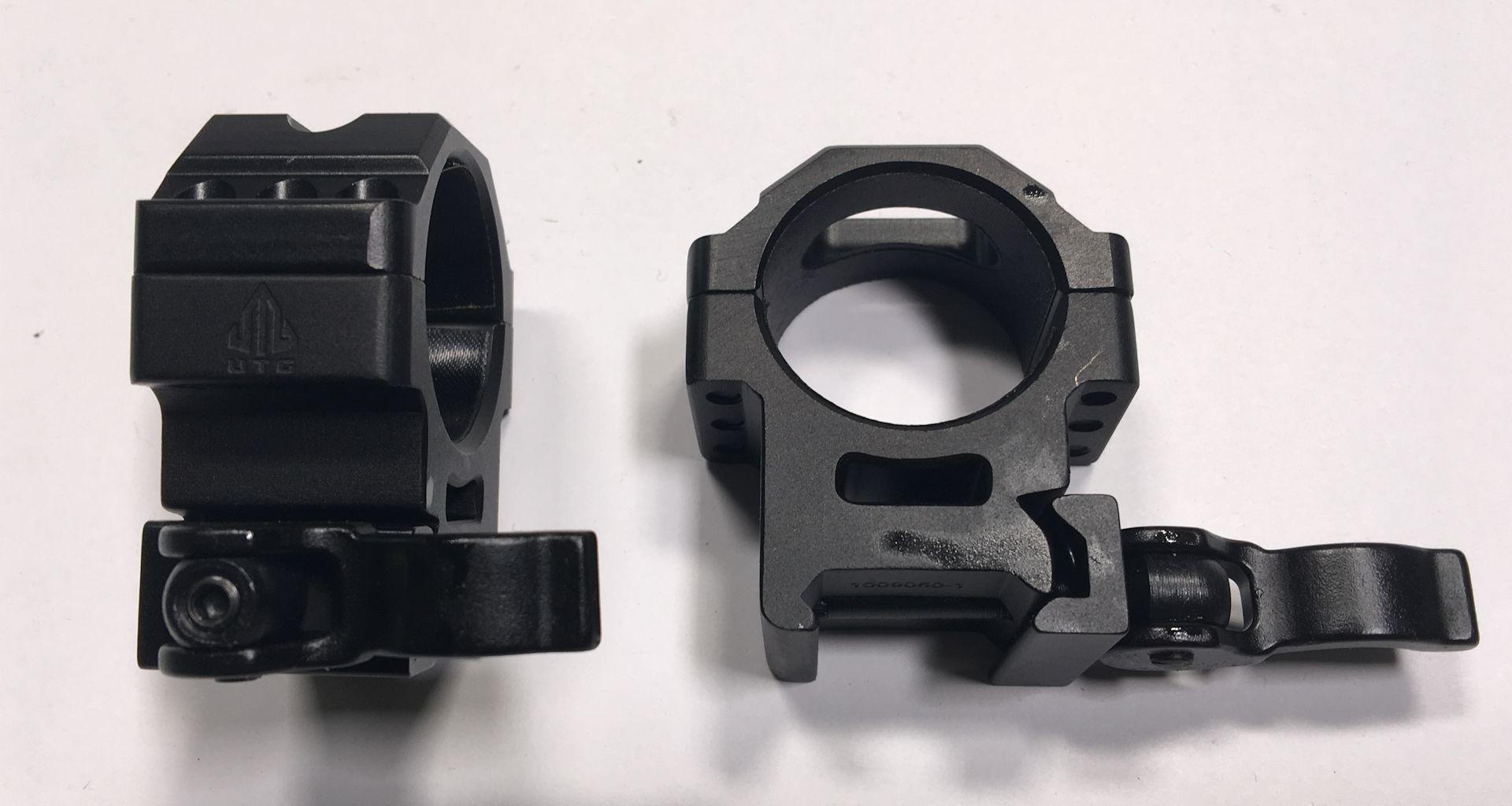 Montageringe 30mm für Schienenbreite 21mm mit Schnellspanner, Sattelhöhe 15mm