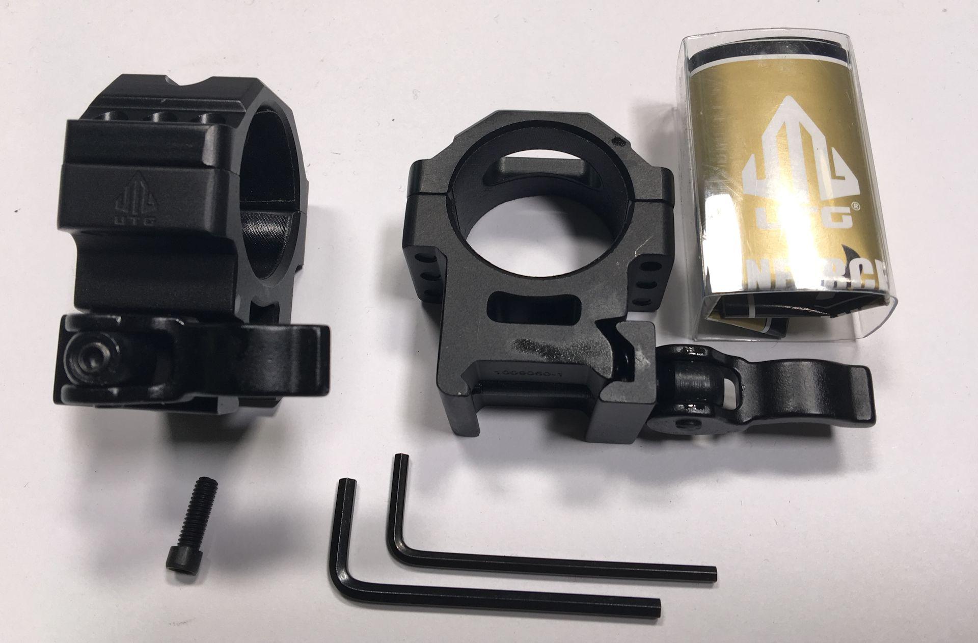 Montageringe 30mm für Schienenbreite 21mm mit Schnellspanner