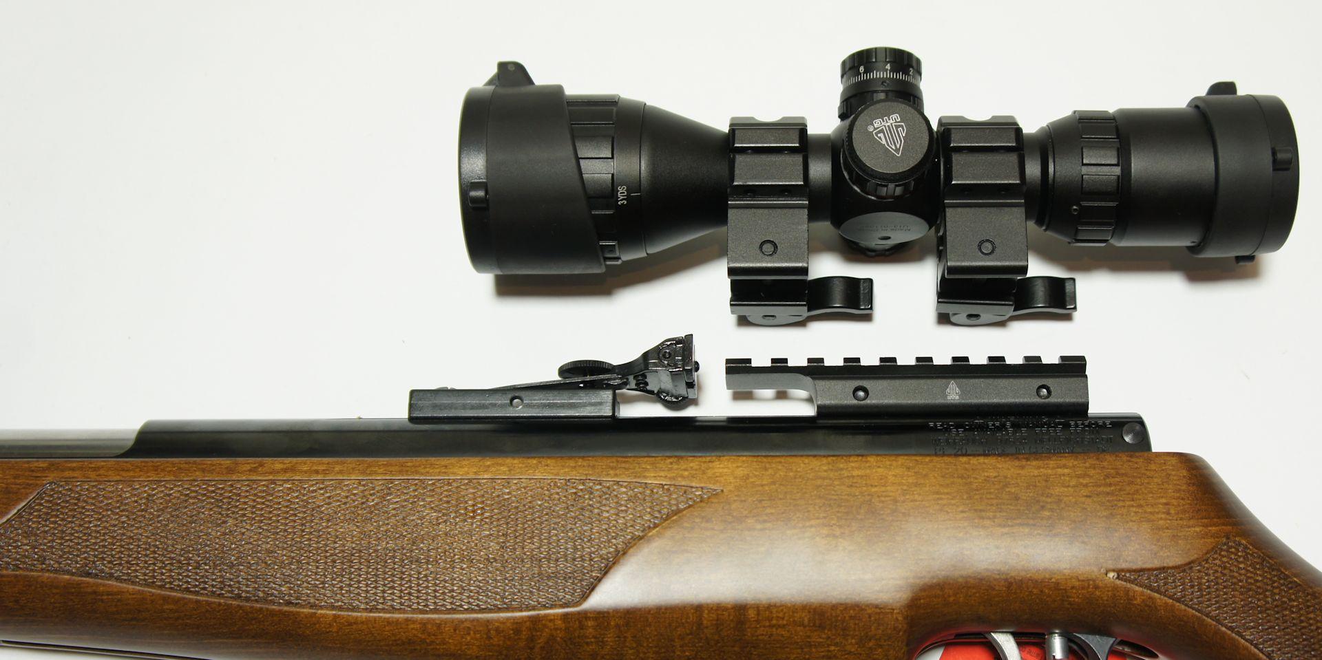 Dieses Beispiel zeigt einen Montageadapter von Schienenbreite 11mmauf 21mm. Auf<a href=1130648.htm> so einem Adapter </a> passt auch dieses Red Dot.