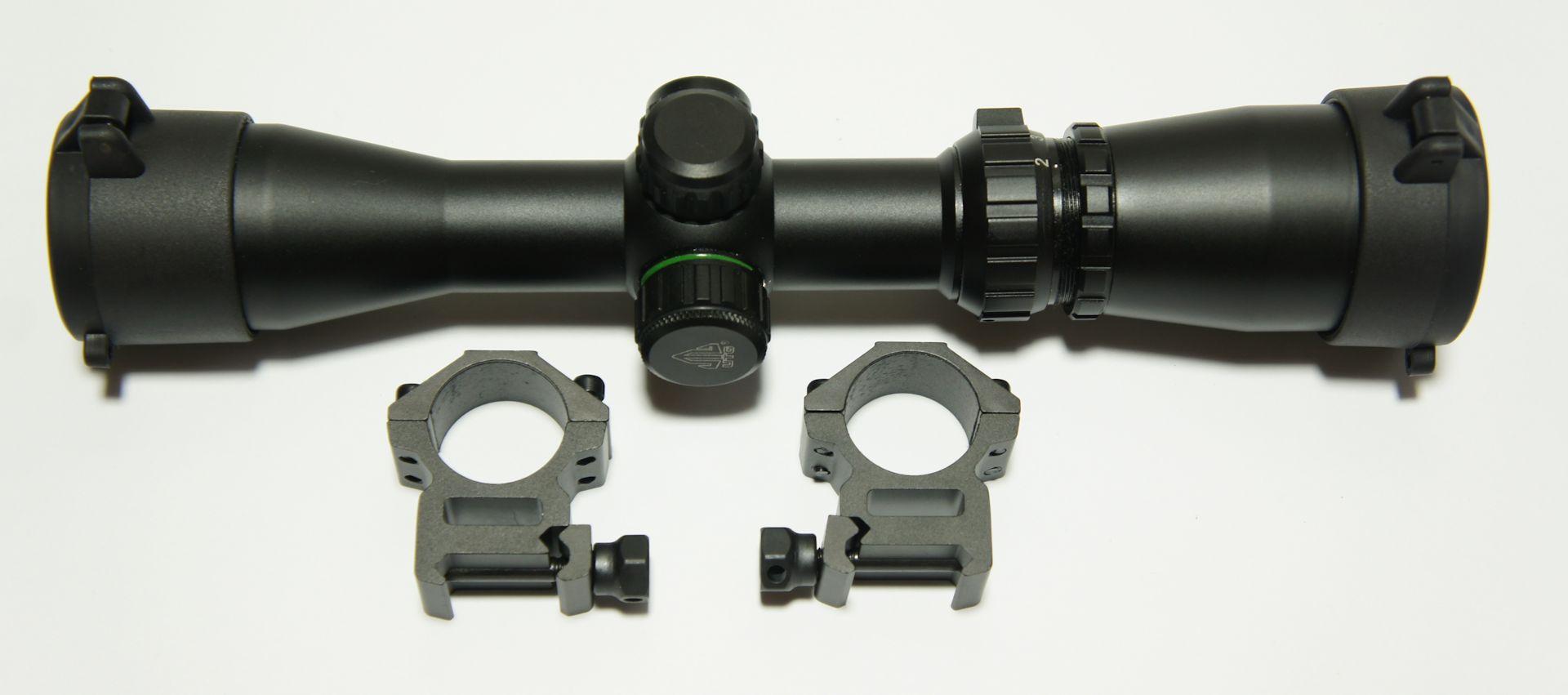 Pistolenzielfernrohr UTG  2-7x32, passend für 21mm Montageschienen