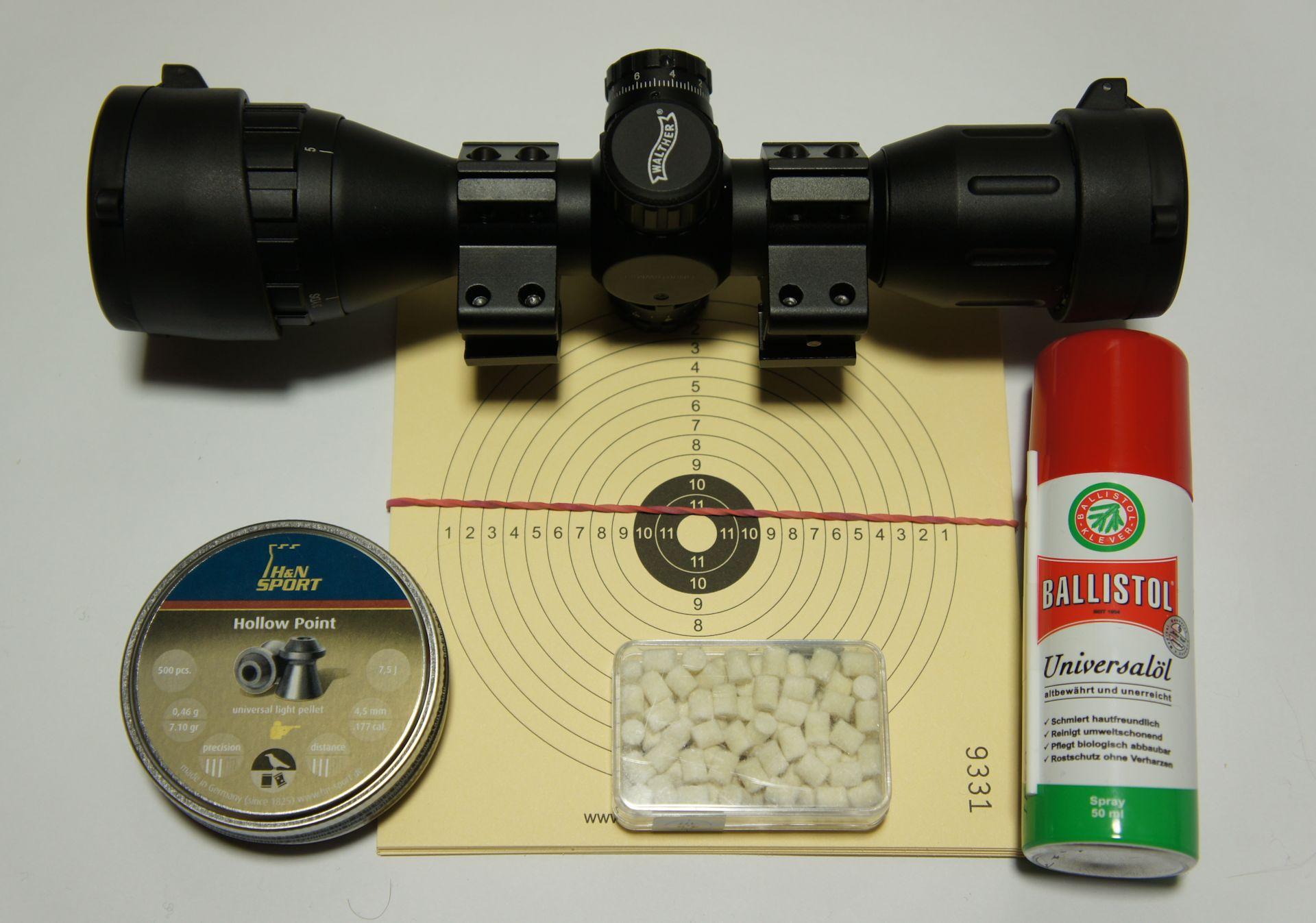 Set- Aufpreis mit ZF Walther 4x32 MDC mit Geschossen und Pflegemittel + montiert und eingeschossen