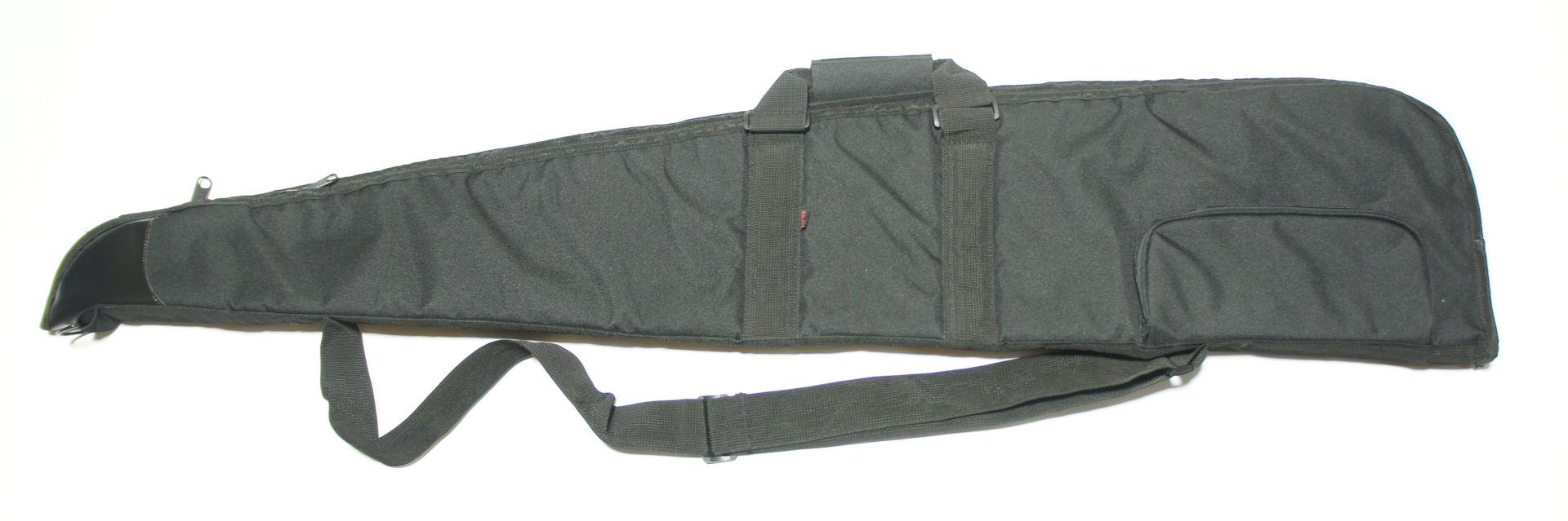 Gewehrtasche 1,30mm schwarz, mit Außentasche