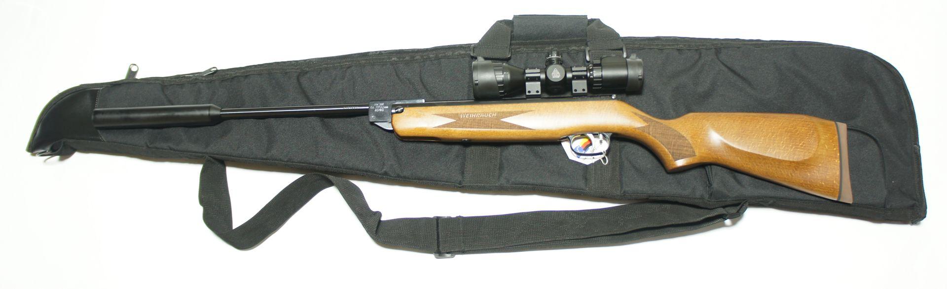 Anwendungsbeispiel mit Luftgewehr, Schalldämpfer und Optik