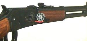 <a href=1050341.htm>So ein CO2 Gewehr Walther Leveraction</a> wäre die perfekte Ergänzung. Darin passen die gleichen Geschosse, wie im Revolver.