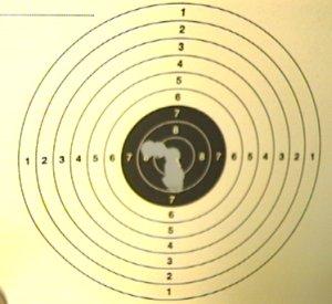 Mein Trefferbild auf 10m mit der Walther Lever Action