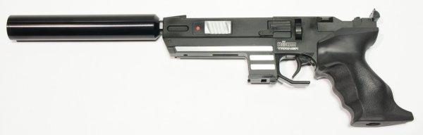 Montagebeispiel an einer CO2 Pistole Twinmaster