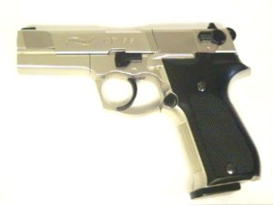 vernickelte CO2 Pistole Walther CP88