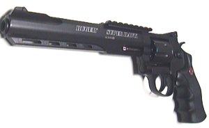 CO2 Revolver Super Hawk schwarz mit 8 Zoll-Lauf