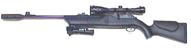 Umarex 850 AirMagnum XT mit Zielfernrohr und Schalldämpfer