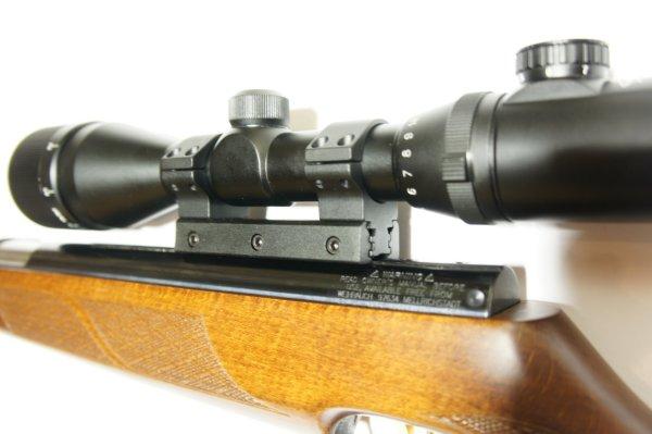 Montagebeispiel  / diese Montage am Luftgewehr HW 97k mit Optik 4-12x50 von Walther