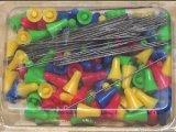 100er Pack Pfeile für Blasrohr, Stahl Pfeile Darts für Sport Präzisions Blasrohr