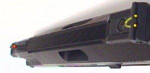 An der 11mm breiten Schiene können entsprechende Optiken befestigt werdenm.
