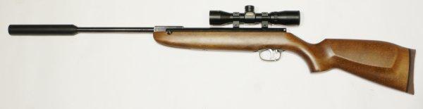 Montagebeispiel auf einem <a href=1160395sd-zf.htm> Luftgewehr HW 30 mit Schalldämpfer </a>Luftgewehr HW 30 mit Schalldämpfer aus meinem Programm. Übrigens liefere ich das abgebildete Luftgewehr mit dieser Optik montiert und eingeschossen.