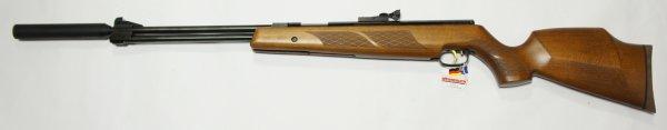Weihrauch HW 77 K sd mit Schalldämpfer und hohem, 97er Holzschaft ohne ZF im Kaliber 4,5mm