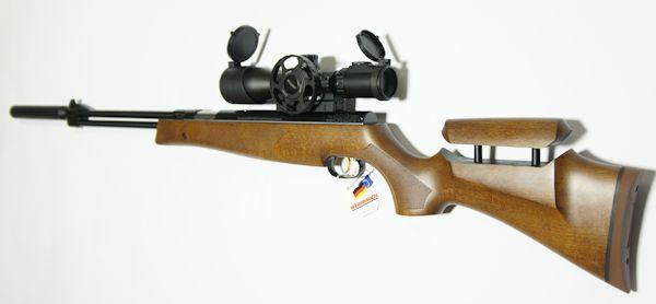 Montagebeispiel / Luftgewehr HW 77 mit verstellbarer Schaftbacke und Zielfernrohr