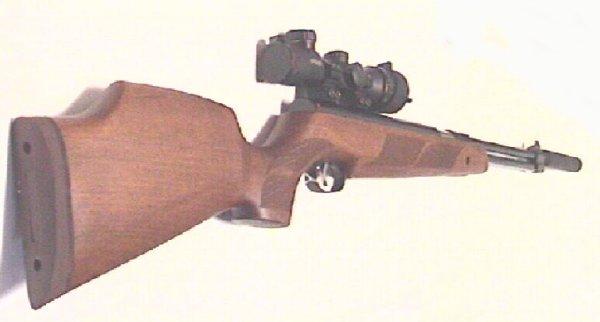 Weihrauch HW77 mit Zielfernrohr und Schalldämpfer