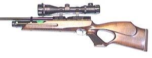 Luftgewehr Weihrauch HW 100 T mit Zielfernrohr 4-12x50 und Harris Zweibein