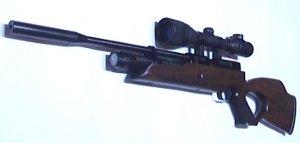 Weihrauch HW 100 T  mit Zielfernrohr und Harris Zweibein